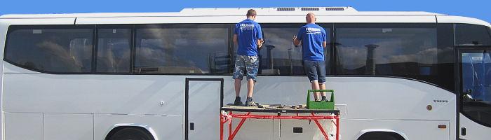 Стекла и стеклопакеты для автобусов